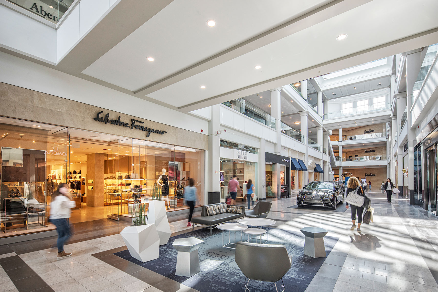 A busy shopping mall is always a good  sign. Commercial interior photographer NY